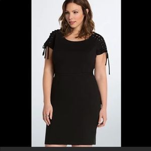 NWT black ponte fitted dress